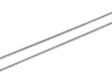 Řetízek z bílého zlata Venecia kostičky 36/38/42/45cm