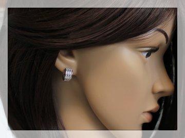 Stříbrné náušnice Swarovski krystal