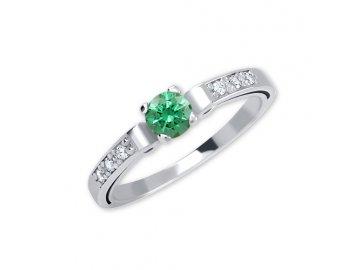 Zlatý prsten se zeleným zirkonem 02/7452290104980