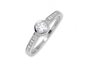 Zlatý prsten z bílého zlata se zirkony 02/10056807