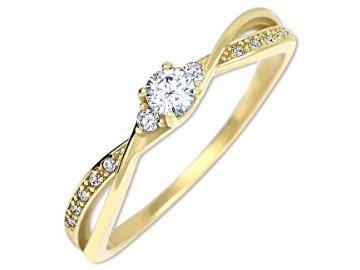 brilio zlaty zasnubni prsten s krystaly 229 001 00812