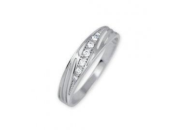 Zlatý prsten z bílého zlata Kora
