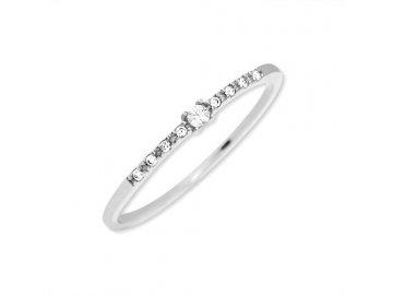 Zlatý prsten z bílého zlata Kira