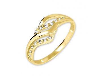 Zlatý prsten se zirkony 02/100699