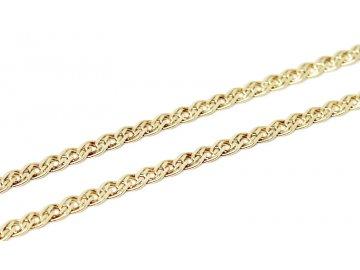 Zlatý náramek pletený 20cm