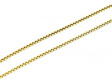 Zlatý řetízek kostičky Venezia 38/42/45cm