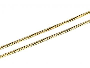 Zlatý řetízek kostičky Venezia 42/45/50cm