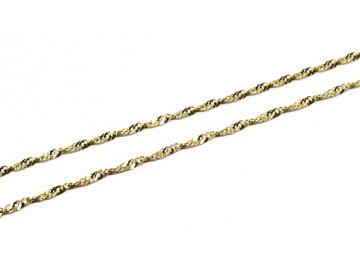 Zlatý řetízek točený Lambáda 36-50cm