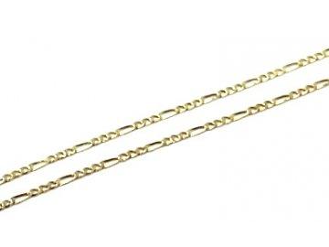 Zlatý řetízek Figaro 3+1 38/42/45cm