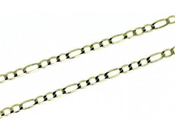 Zlatý řetízek Figaro 3+1 -42/45/50/55cm
