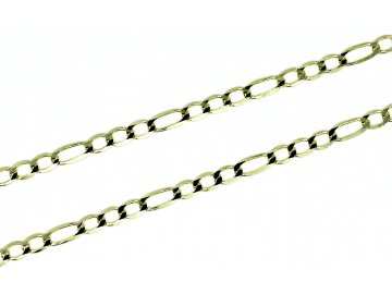 Zlatý řetízek Figaro 3+1 42-55cm