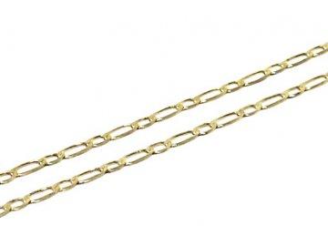 Zlatý řetízek Figaro 1+1 50cm