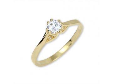 Zlatý prsten se zirkonem Arna