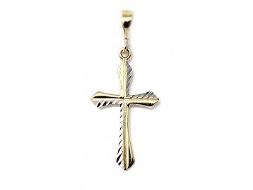 Zlatý kříž dvojbarevný 12/2872