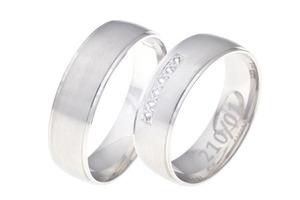 Snubní prsteny bílé zlato 210/01