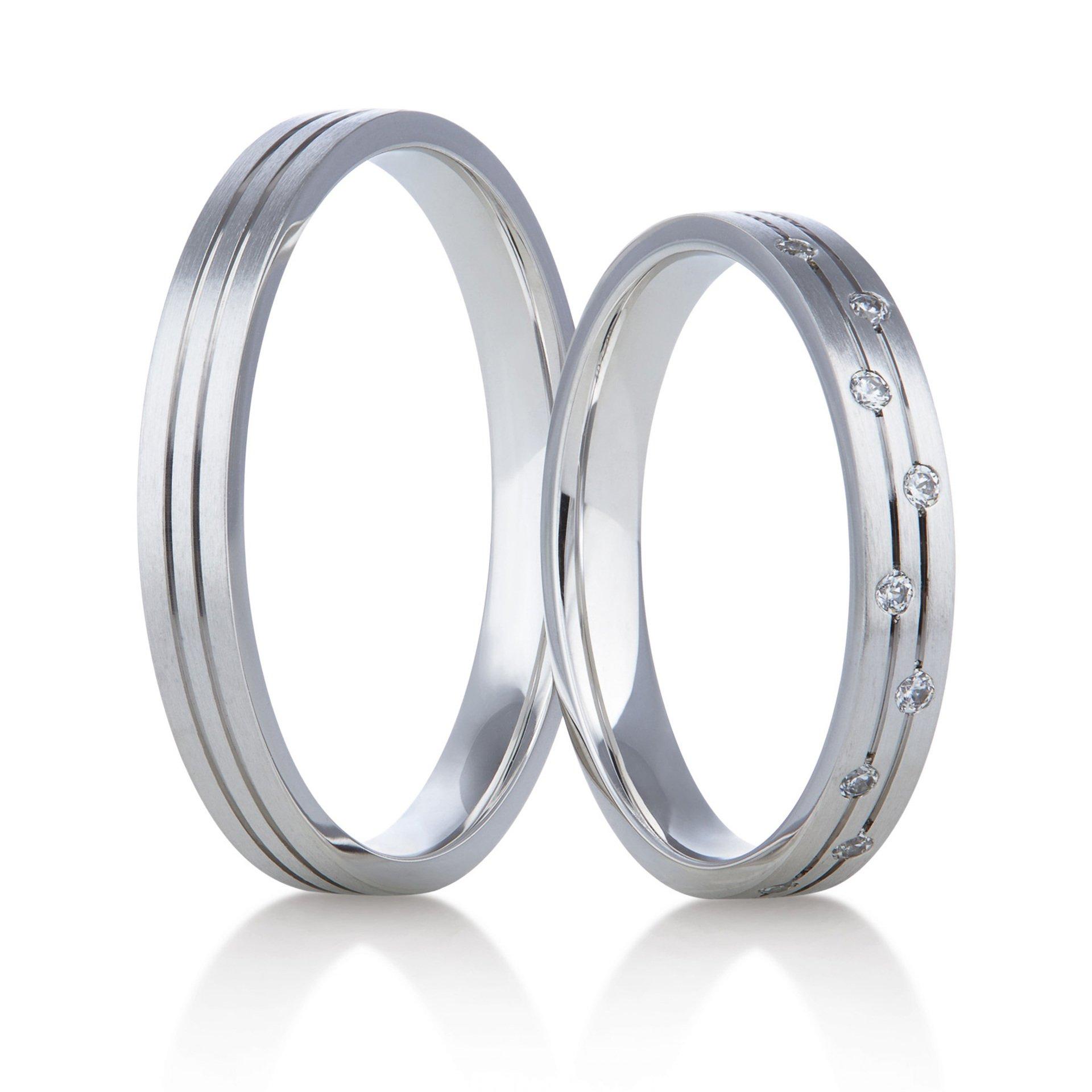Snubní prsteny bílé zlato - Rýdl 407/01