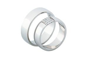 Snubní prsteny bílé zlato - Rýdl 283/03