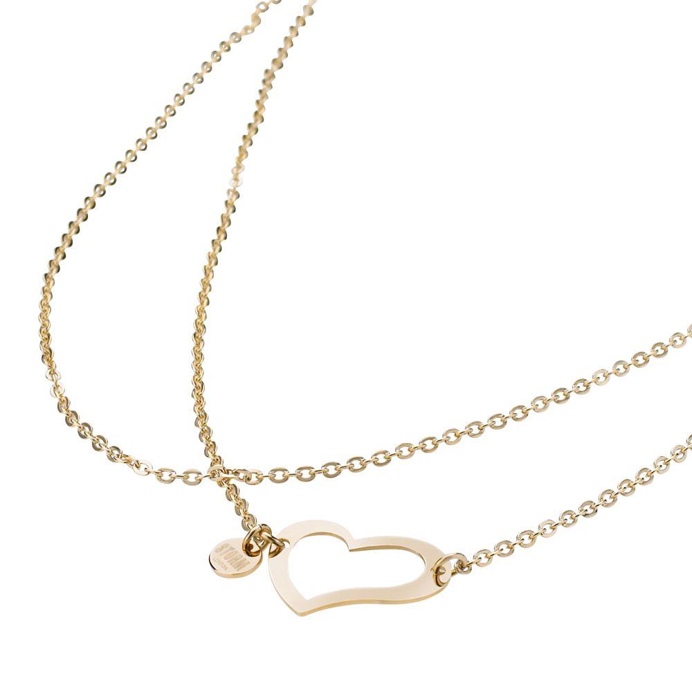 Storm Heart Necklace Gold náhrdelník