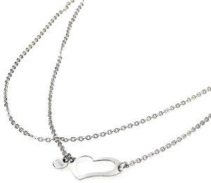 Storm Heart Necklace Silver náhrdelník