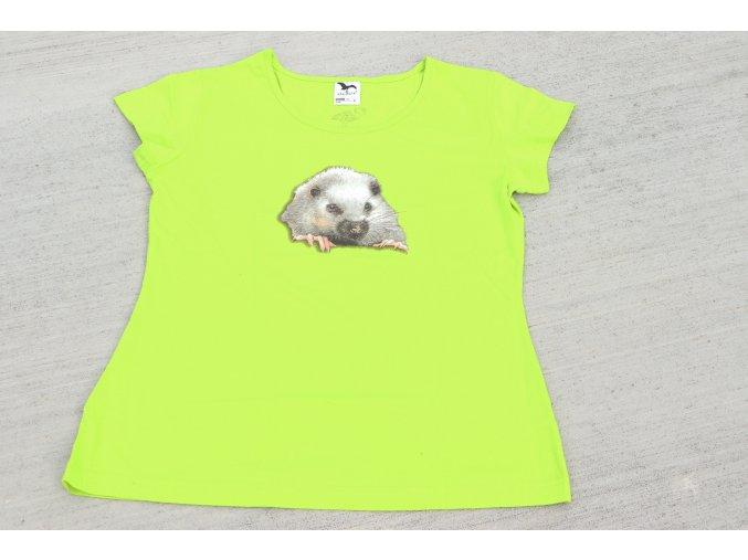 tričko dámské zelené
