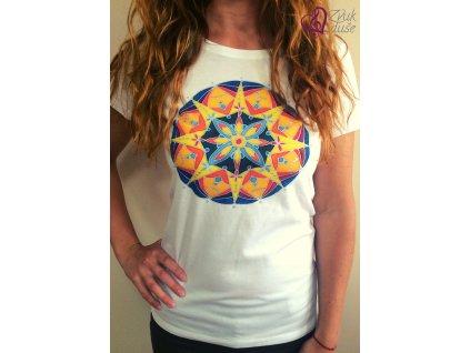 Tričko Mandala radosti s kvapkou inšpirácie dámske