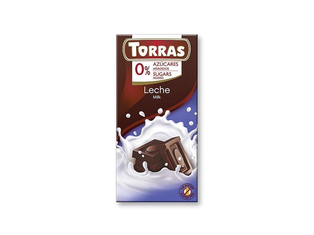 Čokolada mléčná TORRAS 75 g