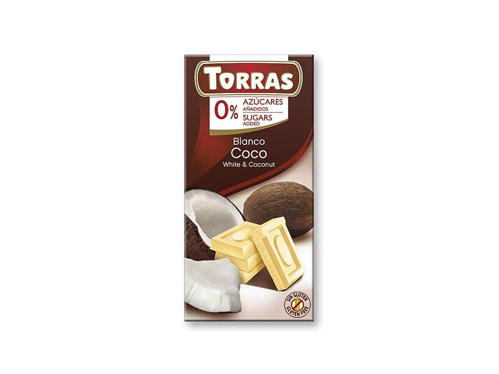 Čokolada bílá s kokosem TORRAS 75 g
