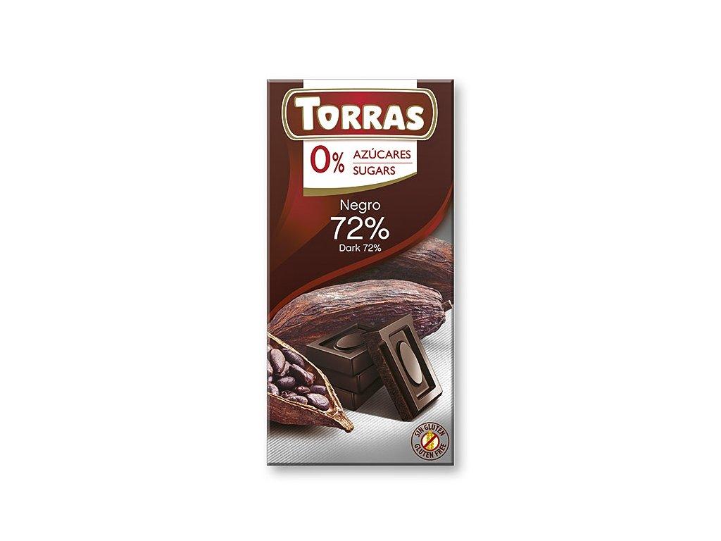 Čokolada hořká 72% TORRAS 75 g