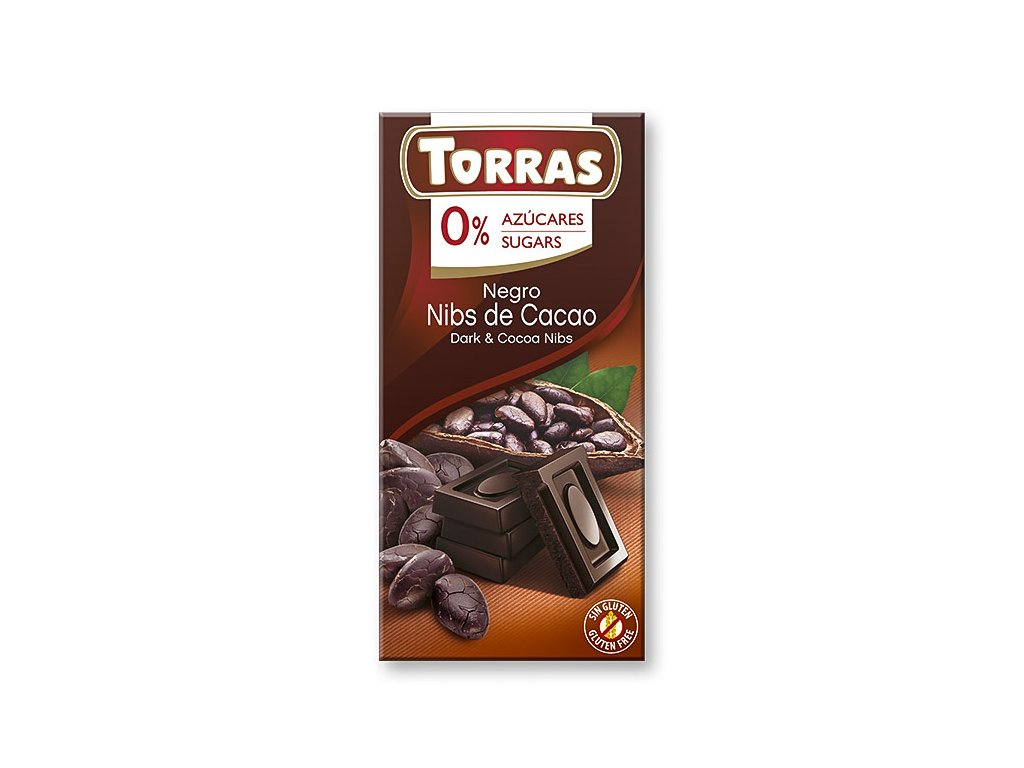 Čokolada s kakaovými boby TORRAS 75 g