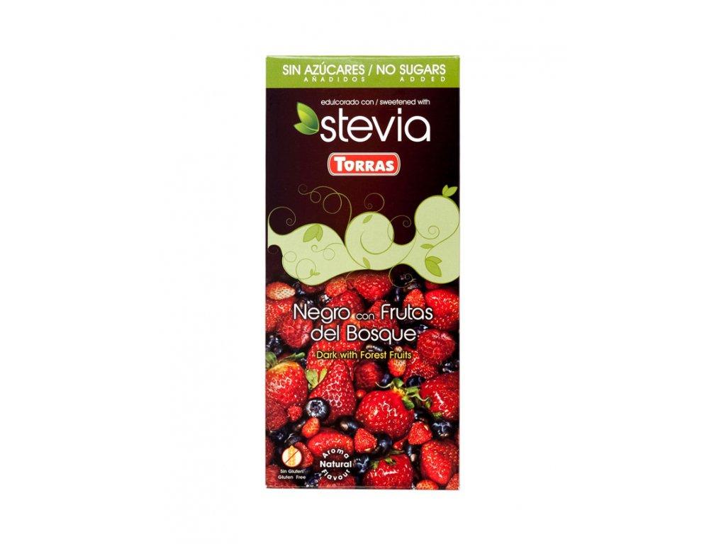 Čokoláda Stevia s lesním ovocem TORRAS 125 g
