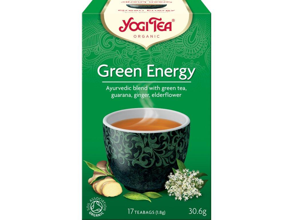 Zelená energie Yogi Tea 17x1,8 g BIO