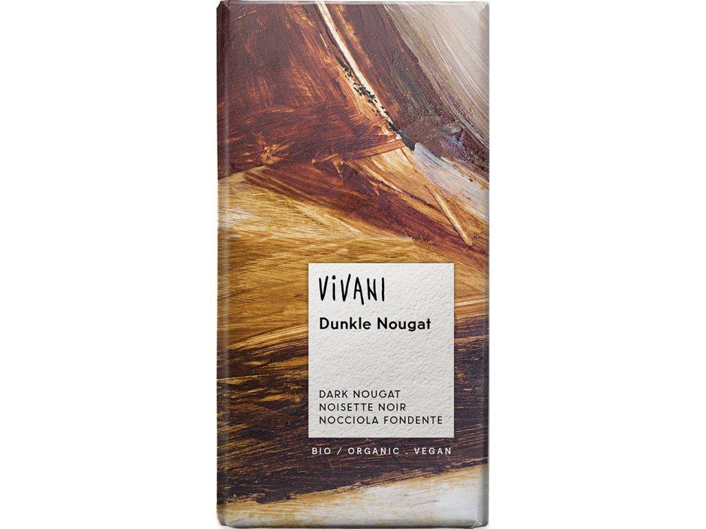 Hořká čokoláda nugátová VIVANI 100 g BIO