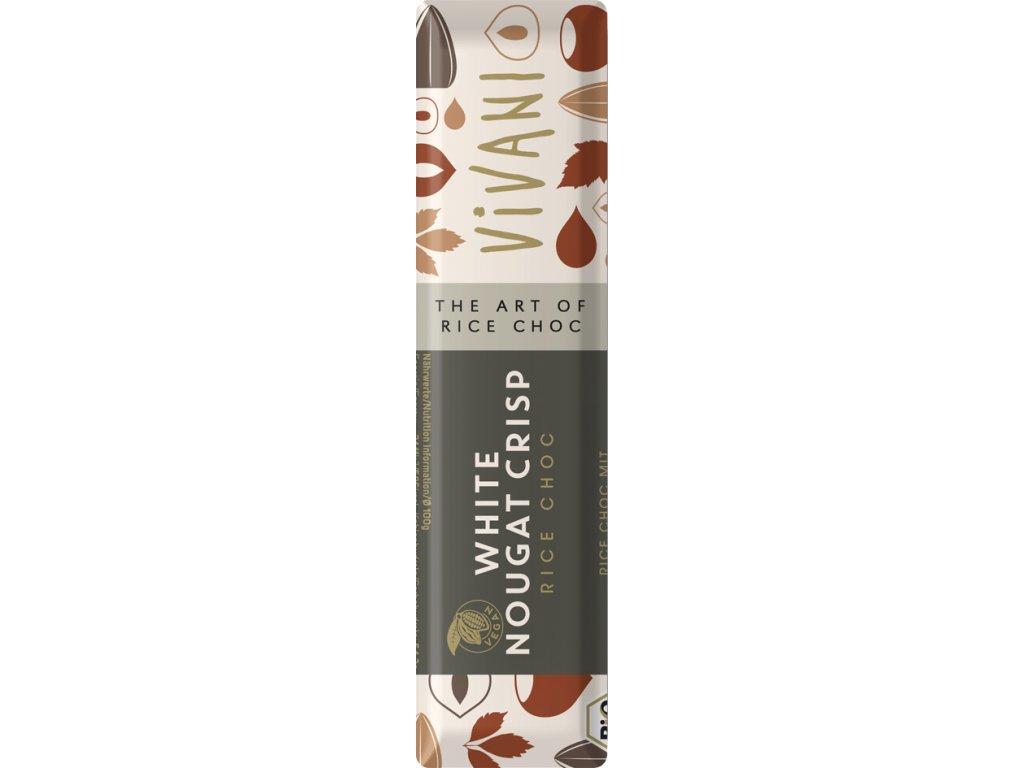 Vegan bílý nugát tyčinka s oříšky VIVANI 35 g BIO