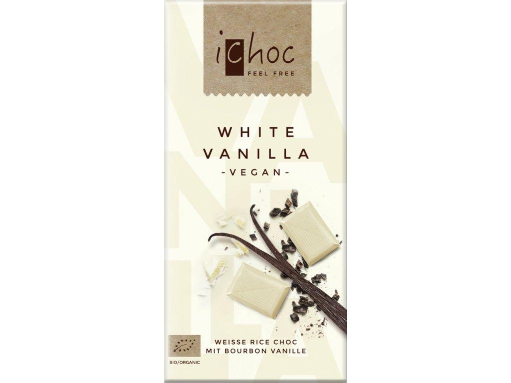 Vegan bílá čokoláda s vanilkou iChoc 80 g BIO