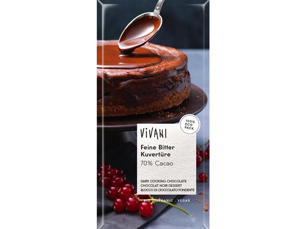 Hořká čokoláda na vaření VIVANI 200 g BIO