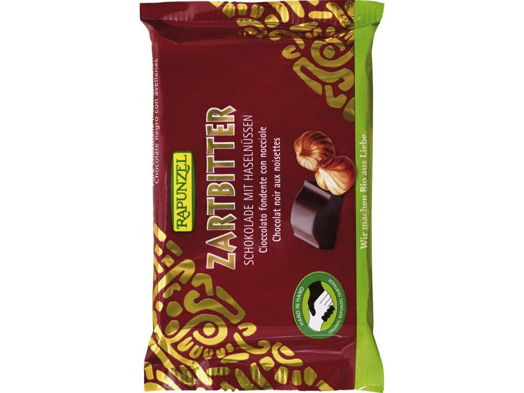 Hořká čokoláda slískovými oříšky RAPUNZEL 100 g BIO