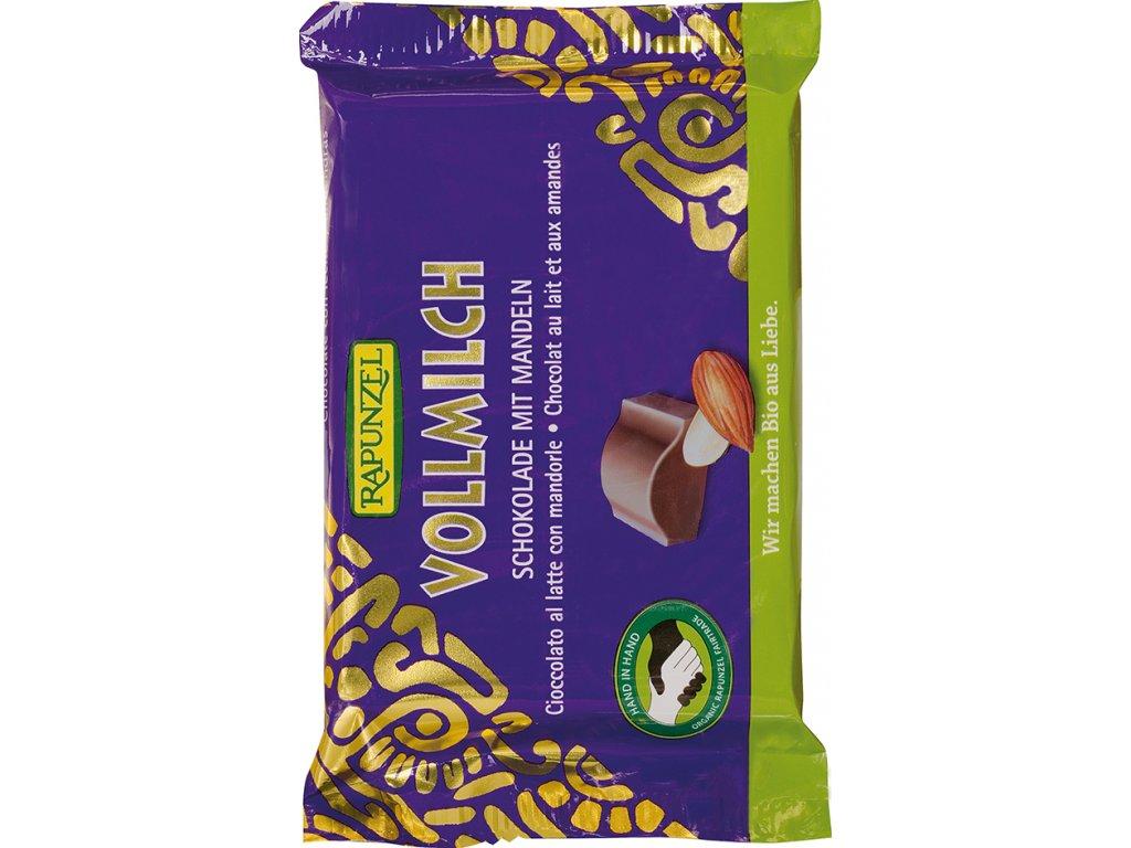 Mléčná čokoláda smandlemi RAPUNZEL 100 g BIO
