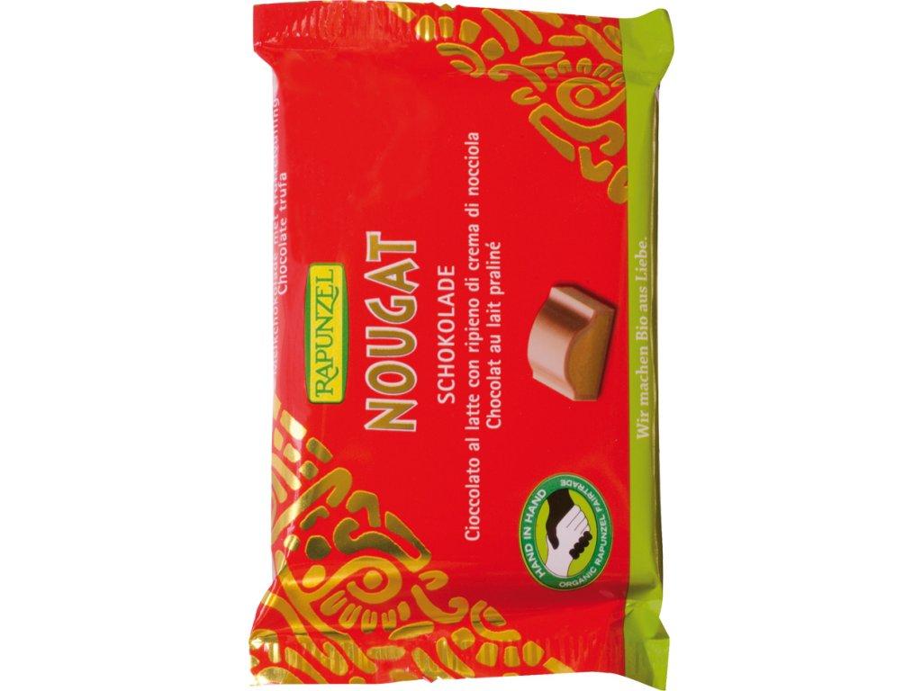 Mléčná čokoláda s nugátem RAPUNZEL 100 g BIO