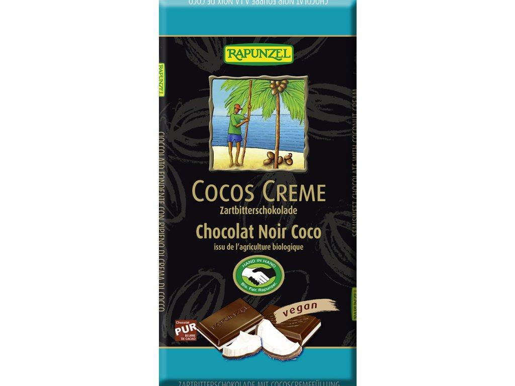 Hořká čokoláda KOKOS RAPUNZEL 100 g BIO