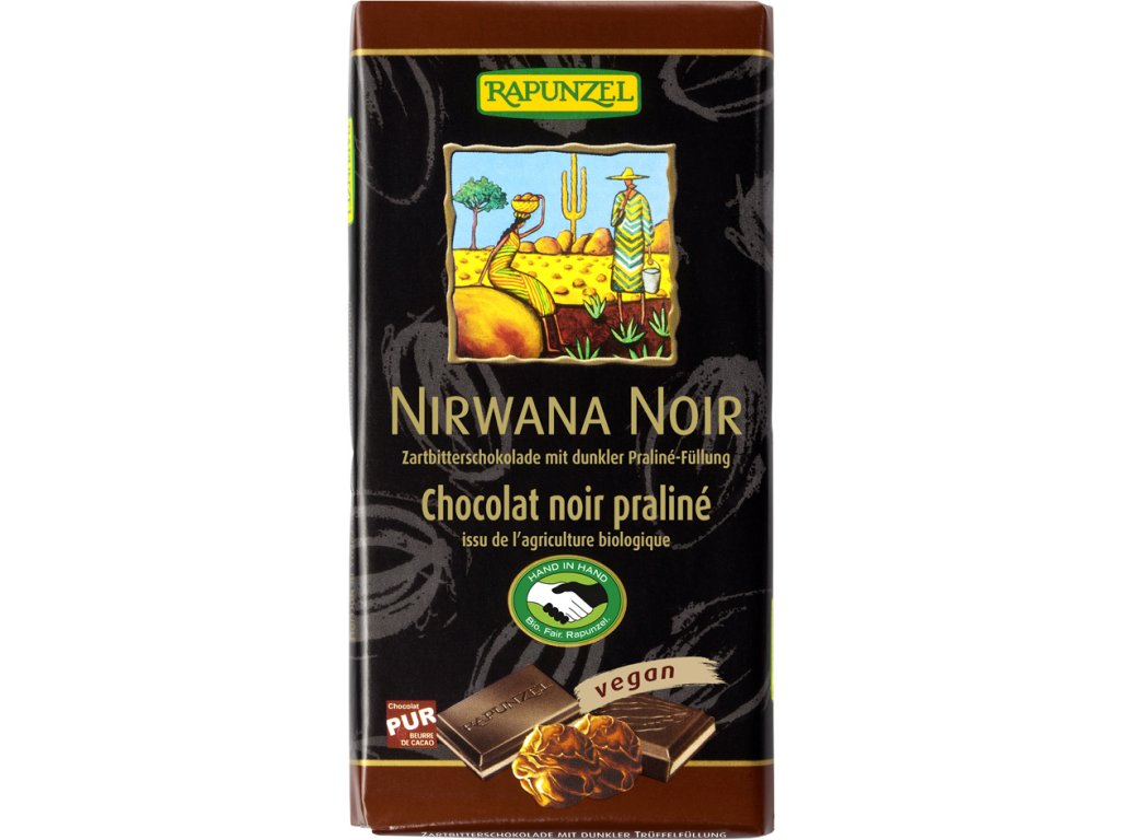 Čokoláda NIRWANA HOŘKÁ RAPUNZEL 100 g BIO