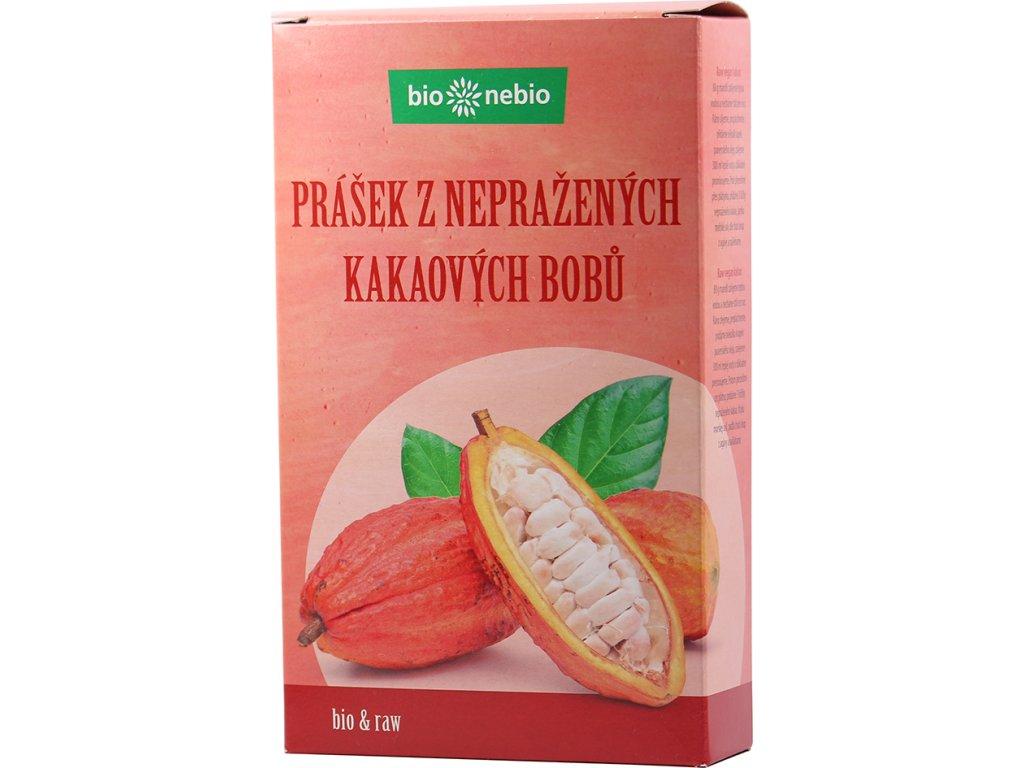 Prášek z nepraženého kakaa bio*nebio 150 g BIO