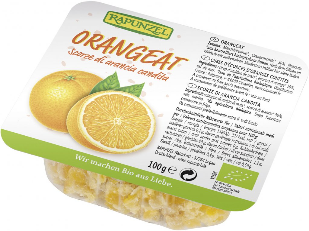Kandovaná pomerančová kůra RAPUNZEL 100 g BIO
