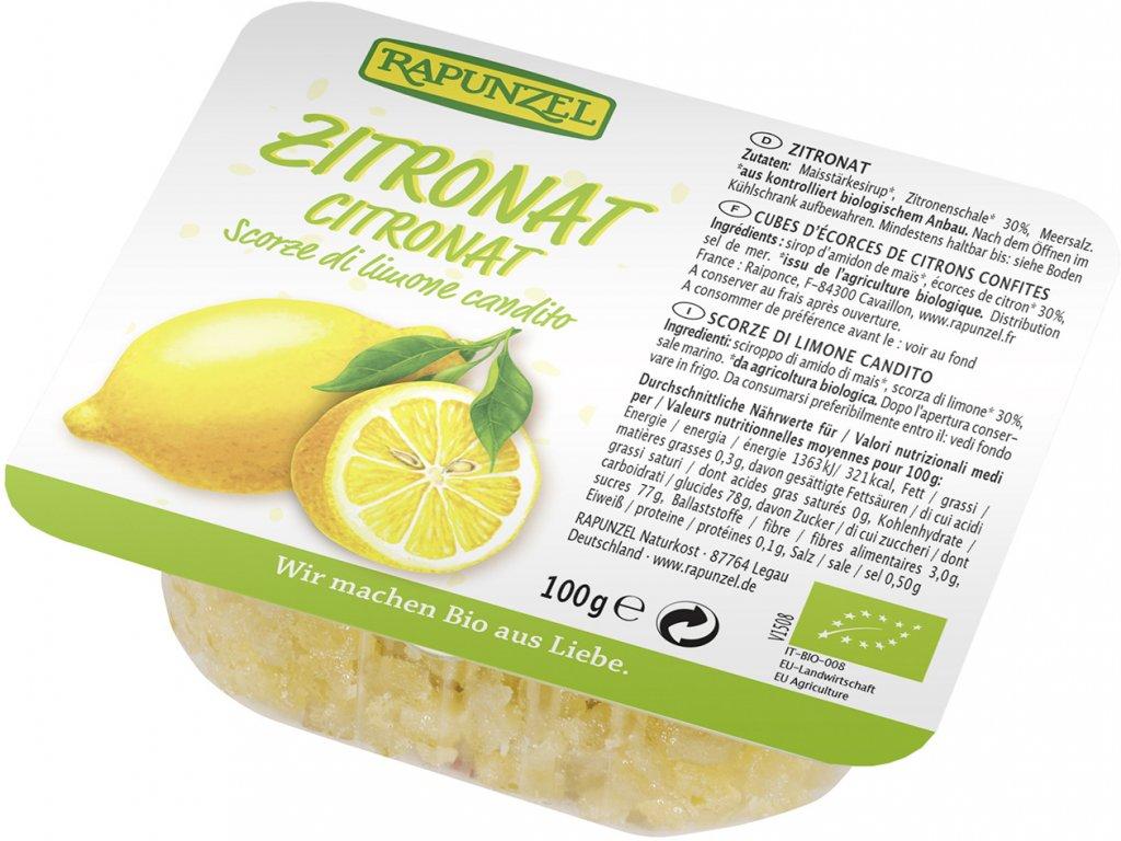 Kandovaná citrónová kůra RAPUNZEL 100 g BIO