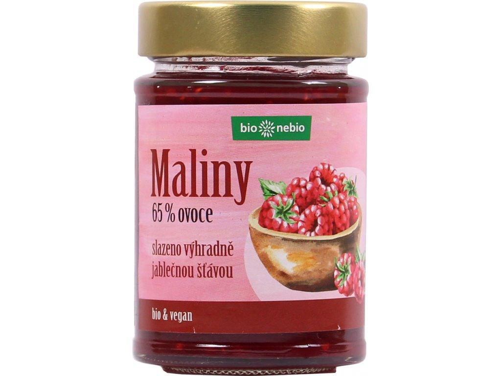 Maliny - zavařenina s jablečnou šťávou bio*nebio 200 g BIO