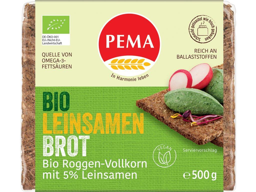 Žitný chléb se lněným semínkem PEMA 500 g BIO