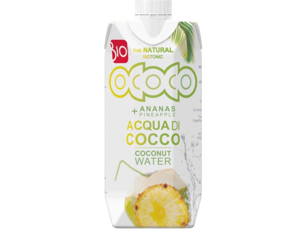 Kokosovo-ananasová voda 100% OCOCO 0,33 l BIO