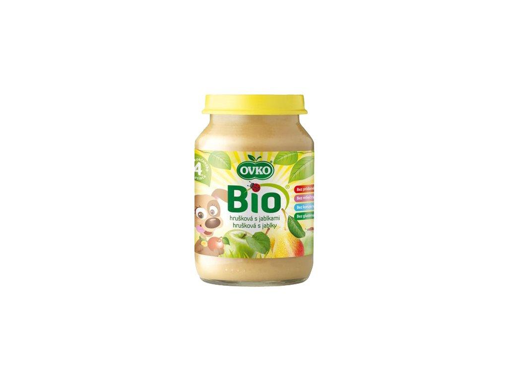 Dětská výživa hrušková s jablky OVKO 190 g BIO