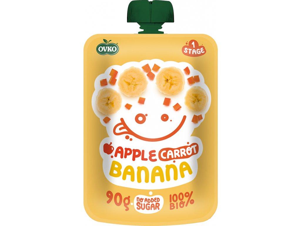 Kapsička jablko, karotka, banán OVKO 90 g BIO