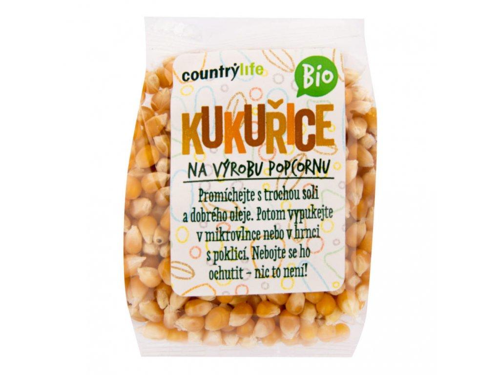 Kukuřice na výrobu popcornu COUNTRY LIFE BIO 200 g