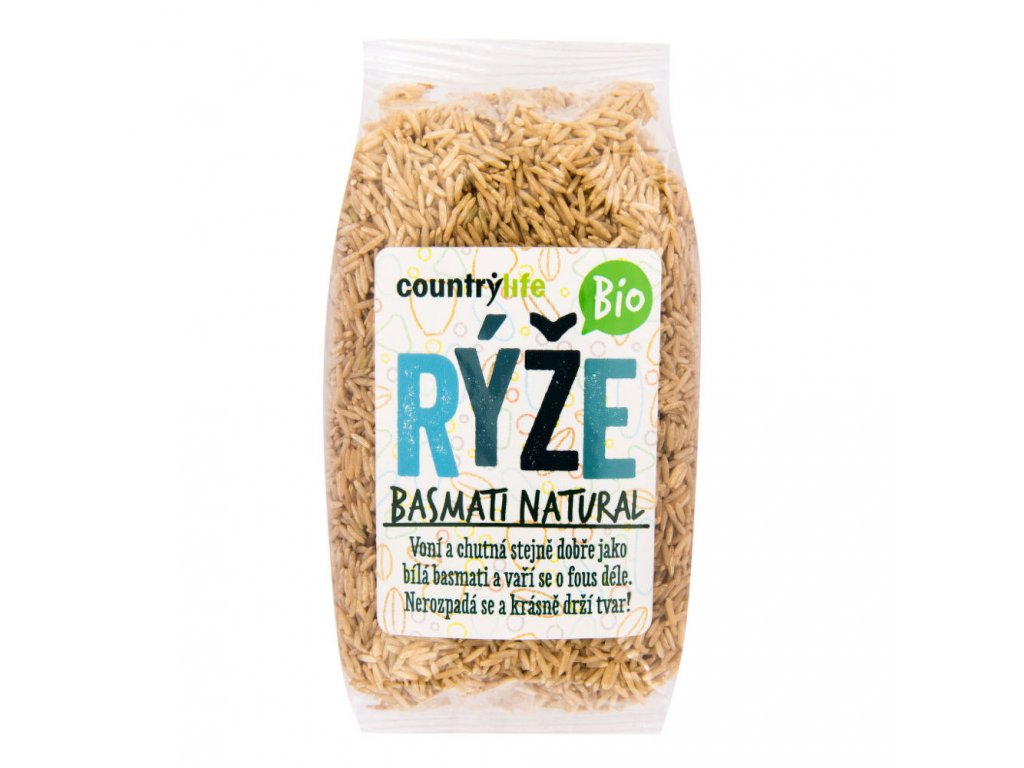 Rýže basmati natural COUNTRY LIFE BIO 500 g